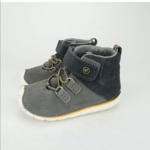 Stride Rite Oliver Ankle Boot Grey 5 Wide Toddler